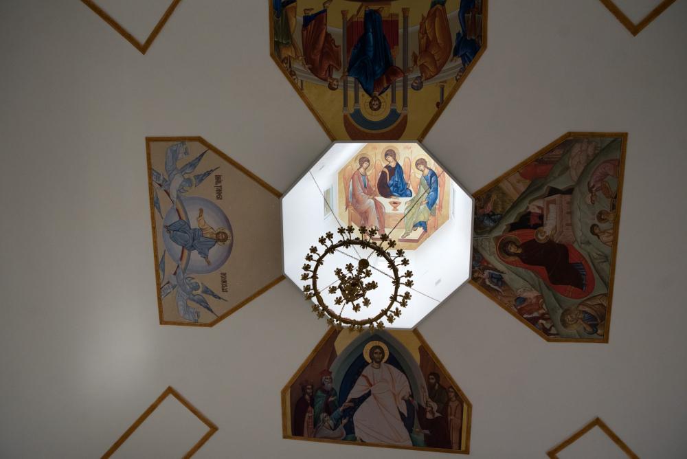 Роспись купола Храма Живоначальной Троицы